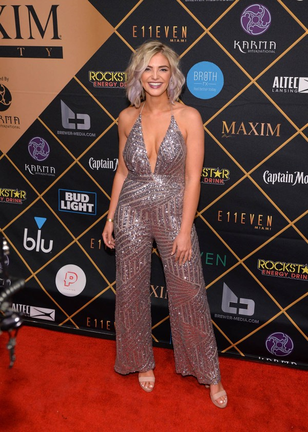 Olivia Caridi Attends 2018 Maxim Party -sponsored