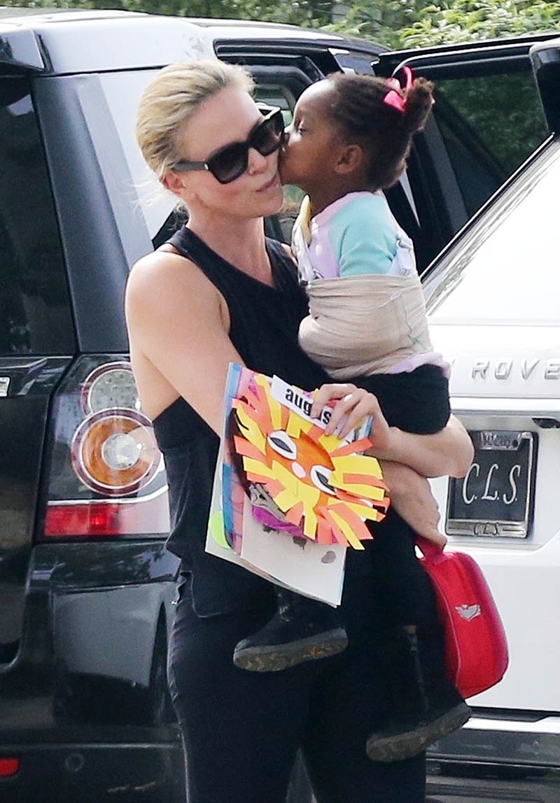 Charlize Theron and August share a sweet moment  Sandra Rose