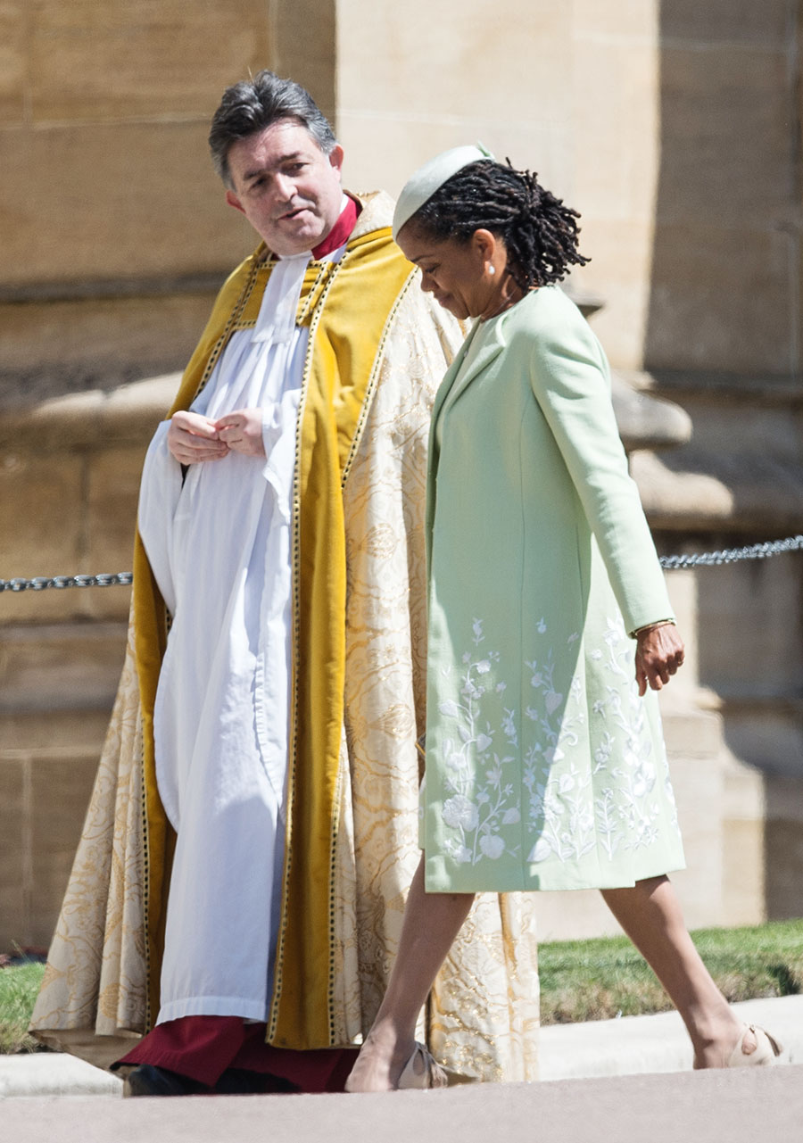 Meghans mom Doria Ragland arrives at The wedding of Prince Harry and Meghan Markle at Windsor