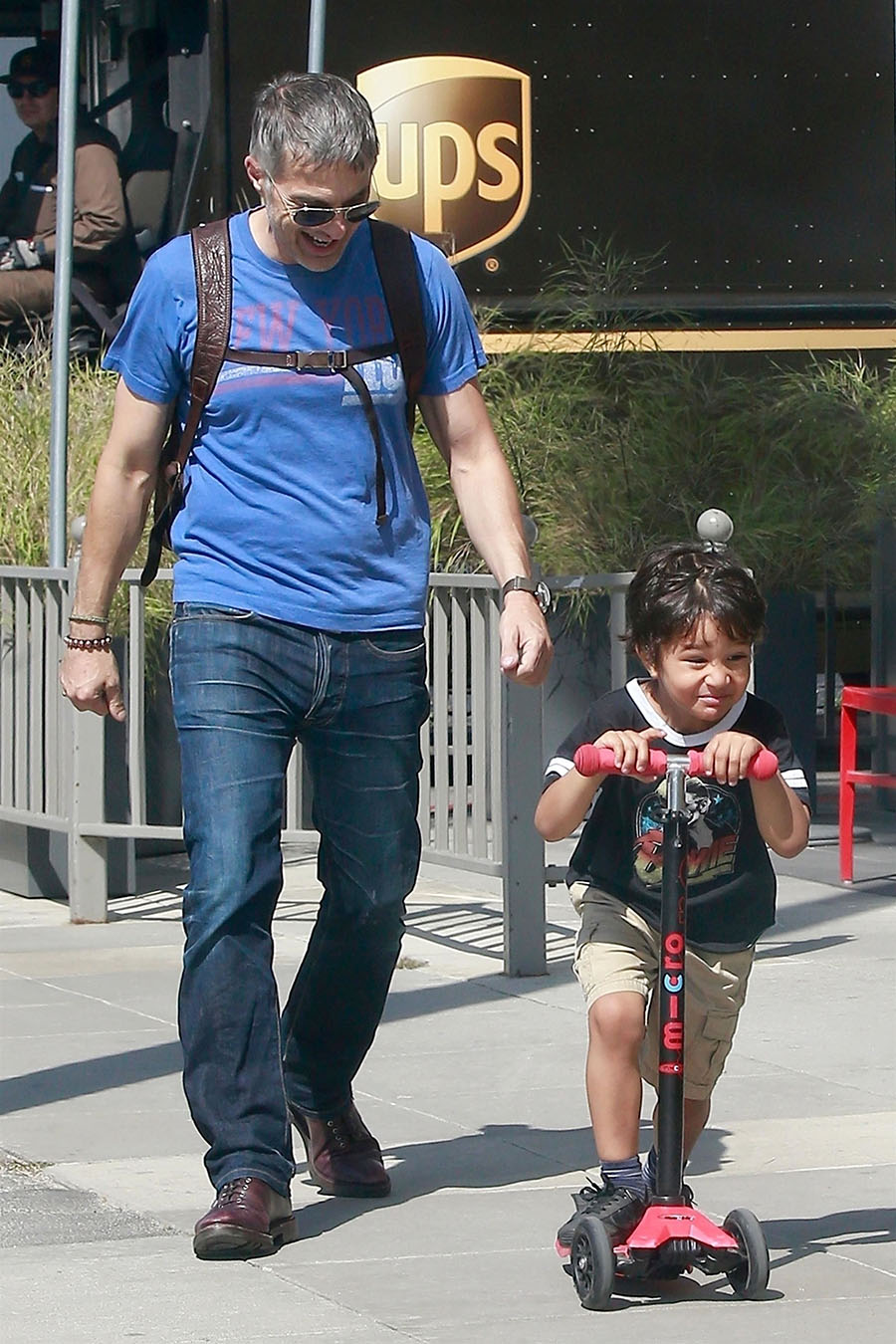 Olivier Martinez enjoys his afternoon out with his son Maceo The duo look like theyre enjoying
