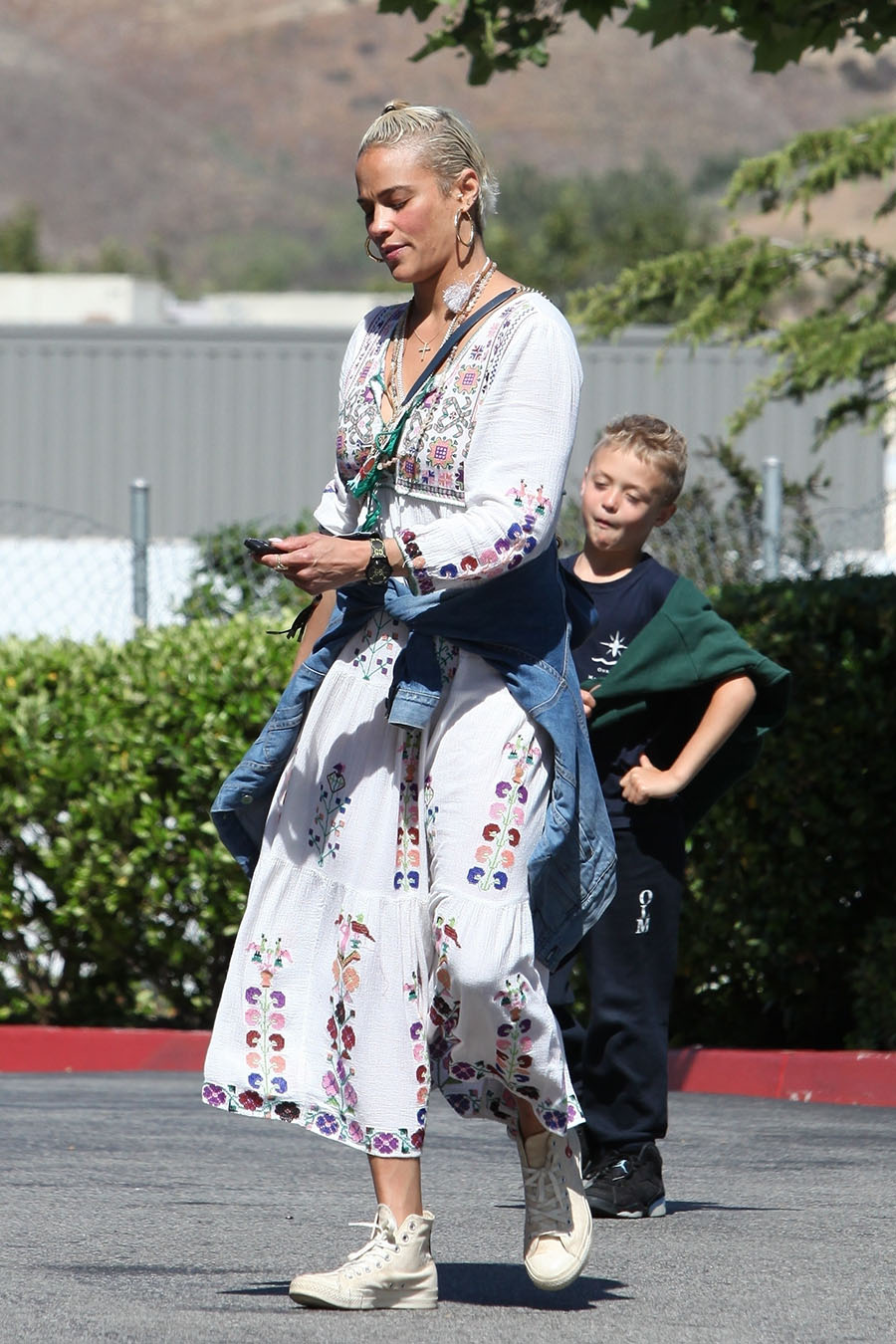Paula Patton took her son Julian Fuego Thicke grocery shopping at Erewhon Market in Los Angeles