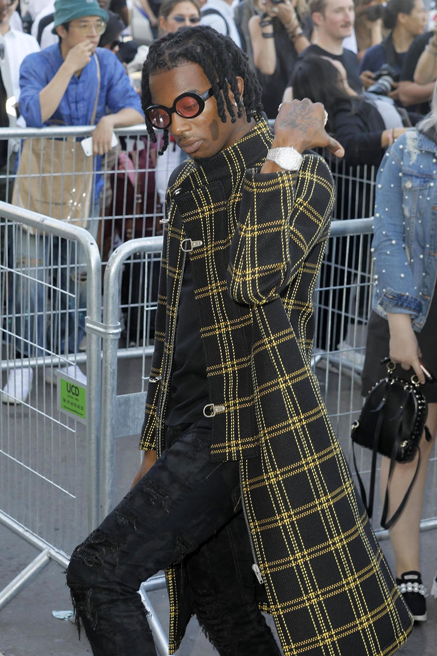 Rapper Playboi Carti arrive at the OffWhite Menswear runway show in ParisPhoto by Best Image