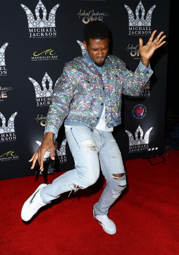 Usher Raymond Attends Michael Jackson Diamond Birthday