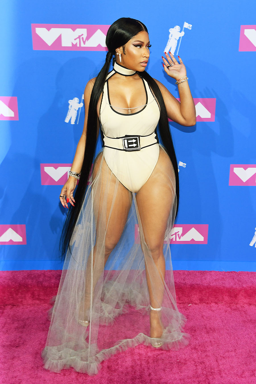 Nicki Minaj attends the 2018 MTV Video Music Awards at