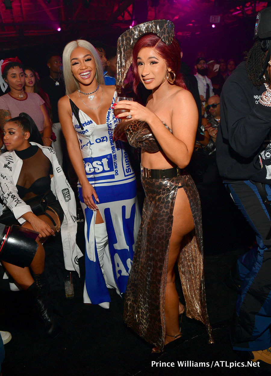 Saweetie and Cardi B at Quavo Album Release Party in Los Angeles on Oct 11Photo by Prince
