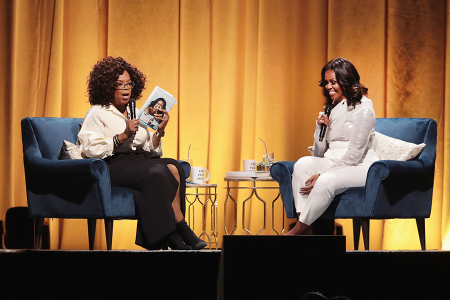 Oprah Introduces Michelle Obama At Kickoff Of 'becoming