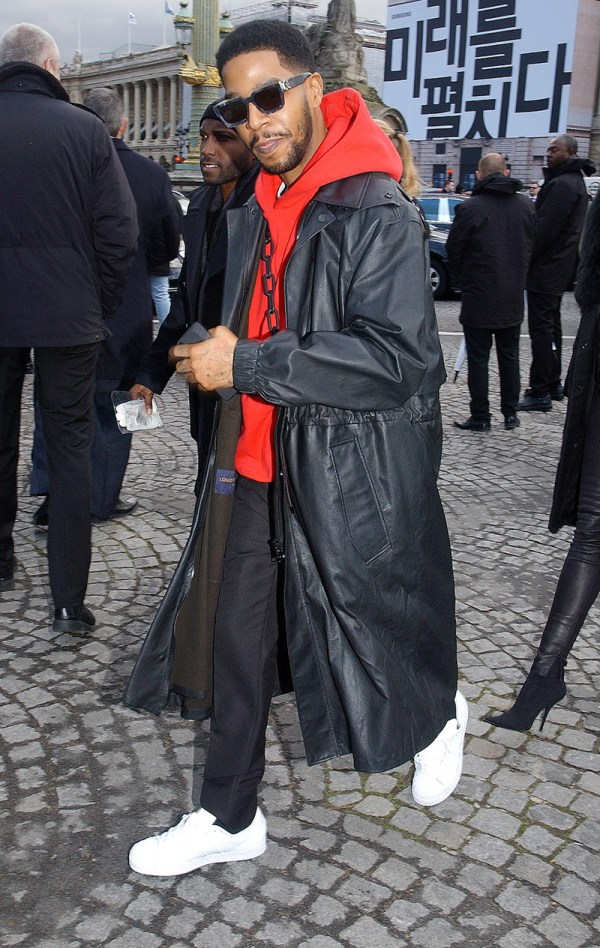 Rapper Kid Cudi Attends Louis Vuitton Menswear Fall