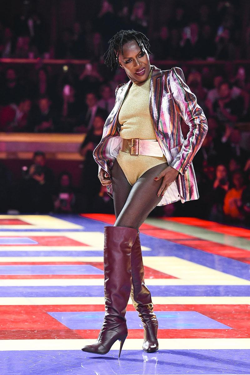 Supermodel Grace Jones closed the Tommy x Zendaya runway
