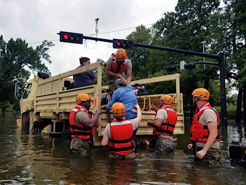 national guard rescuing residents