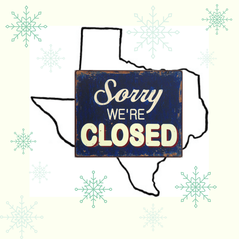 Texas closed for weather