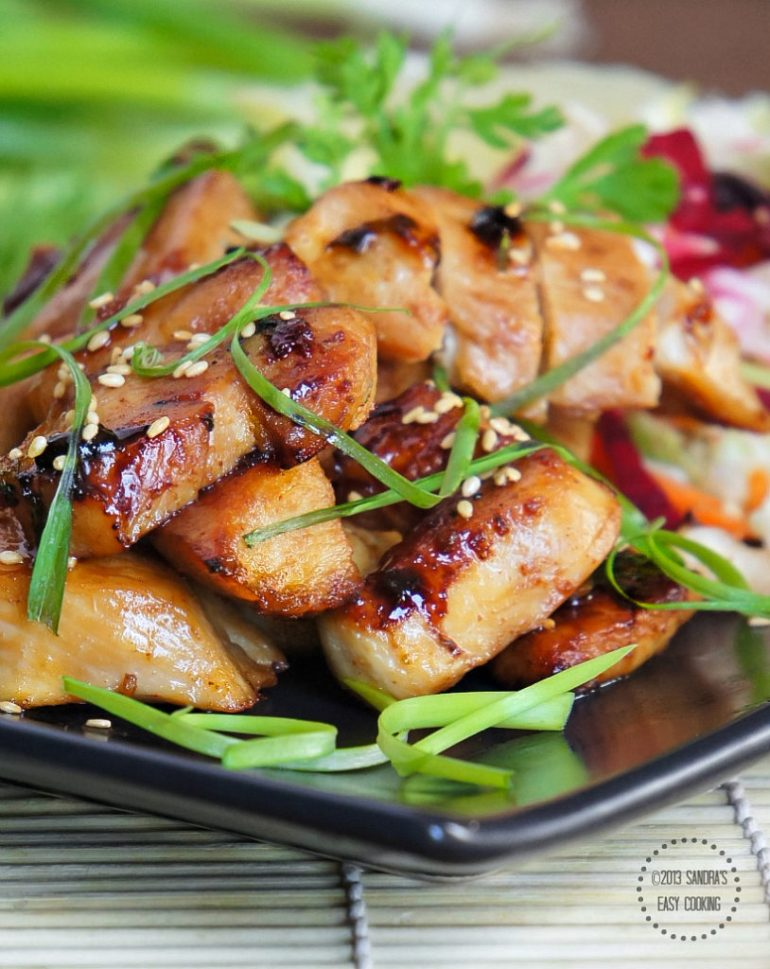 Teriyaki Chicken is at the little sweet side and it depends on your taste bud that you want to continue towards sweet or want to make it little spicy as well.