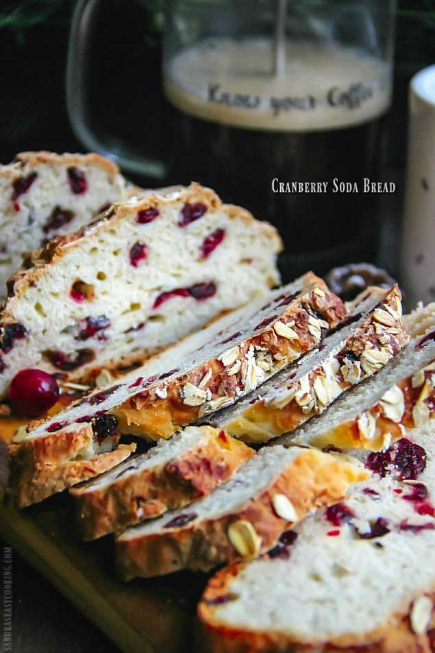 Cranberry Soda Bread #recipe #bread #baking