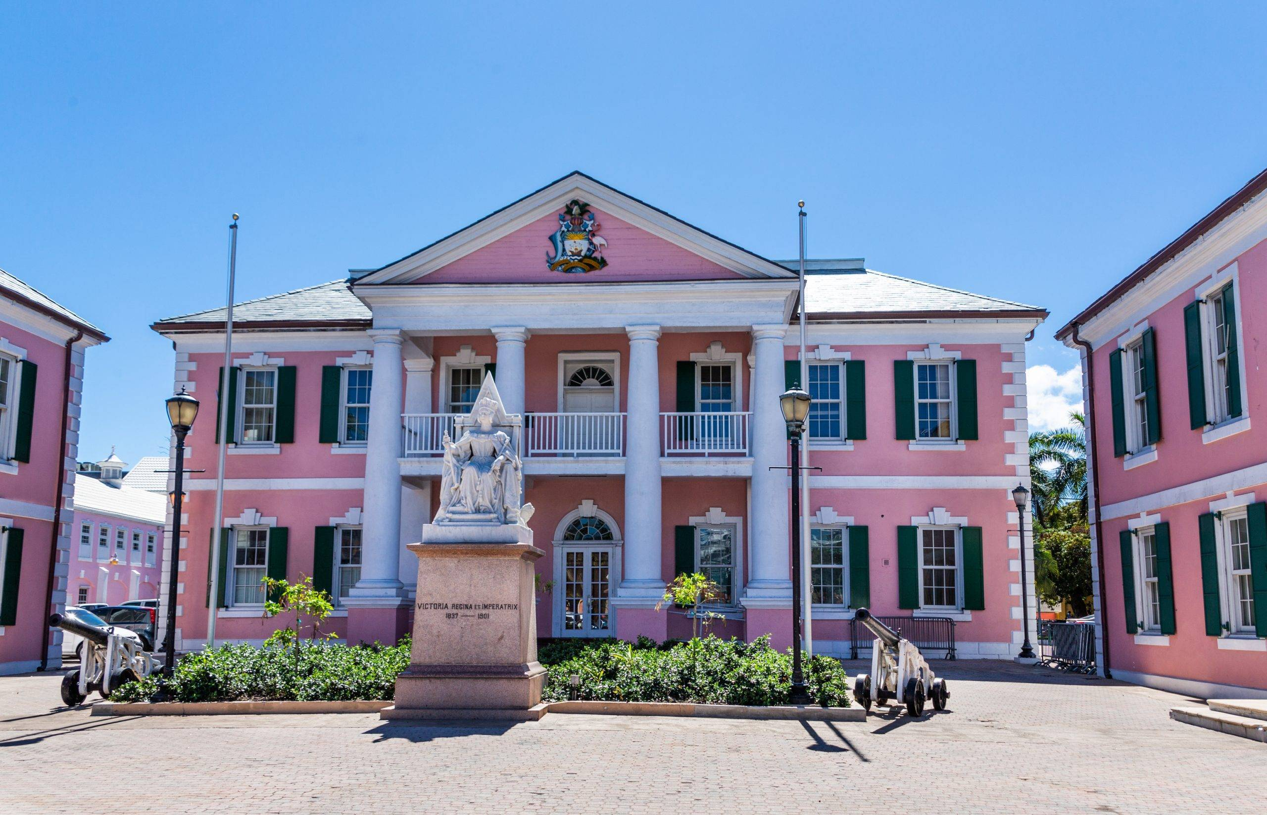 Statue in Front of Nassau Government Building