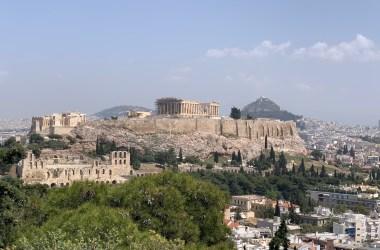 Uitzicht op de Akropolis