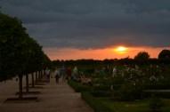 Saule riet arī pie Rundāles horizonta