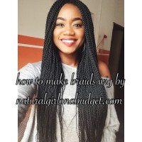 DIY: How to make braids wig with lace closure (pictorial ...