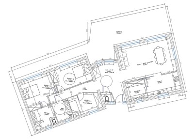 Conception villa Corse plan 2D