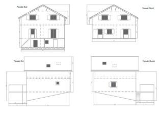 Etage supplémentaire plans façades