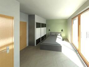 Conception villa Corse Chambre