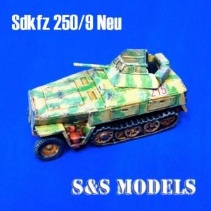 German sdkfz 250/9 neu h/track armoured car