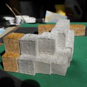 Hesco double stacked wall corner (28mm)