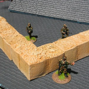 20mm (1/72) Hesco bastion walling