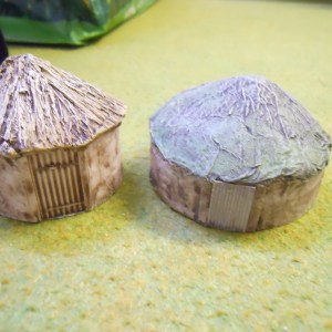 African mud huts pk of 5