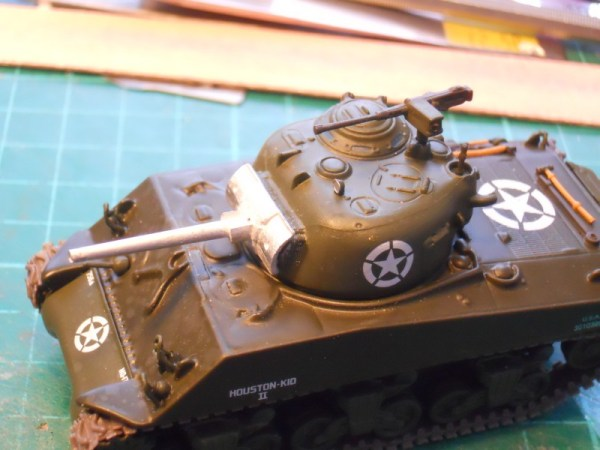 Diecast M4A3 Sherman & 75mm gun barrel conversion