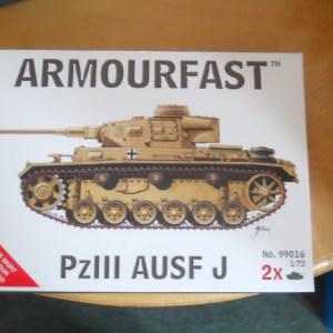 Armourfast 1/72 scale Panzer 3 J tank kit