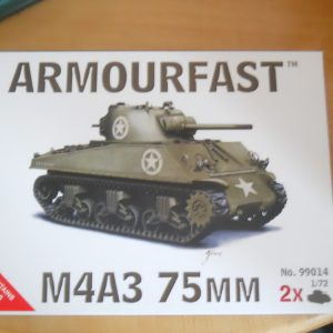 Armourfast 1/72 scale M4A3 75mm Sherman kit