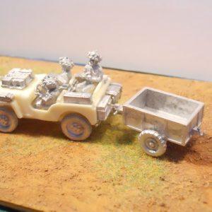GB Para Jeep, crew & trailer