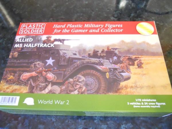 Plastic Soldier Company M5 half track pk of 3