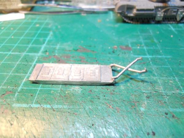 single 15mm PSC Churchill & towed sledge