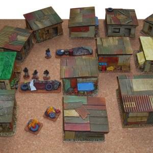 Shanty shacks (pack of 5)