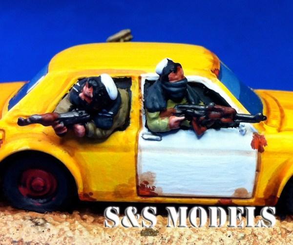Armed Afghan passengers