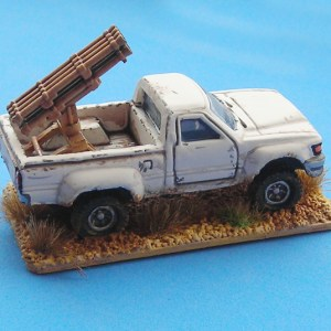 Toyota 2 door pick up & rocket launcher