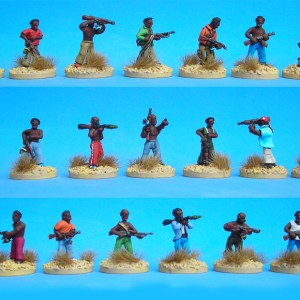 African militia pack of 20