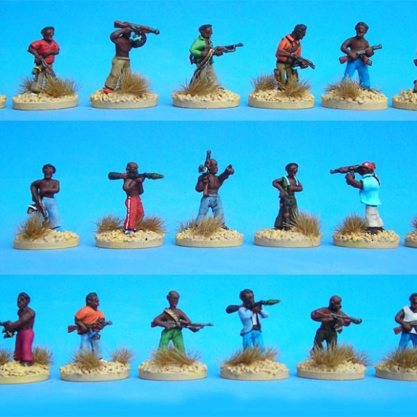 African militia pack of 20