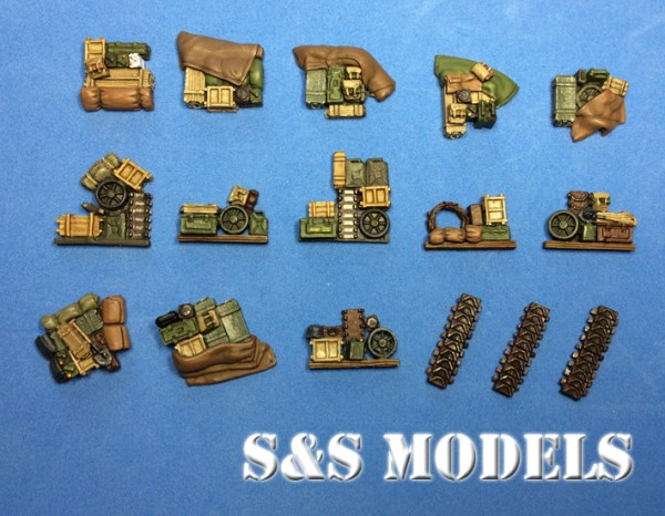 1/72 Early hulled M4 stowage (triple)