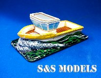 Cabbed fishing boat