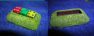7mm 3 x dice holders (rectangular) pack of 10