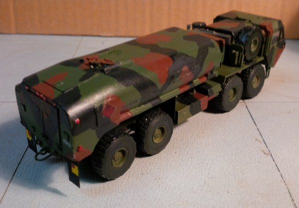M978 tanker conversion for Academy M977 HEMTT 8x8 kit