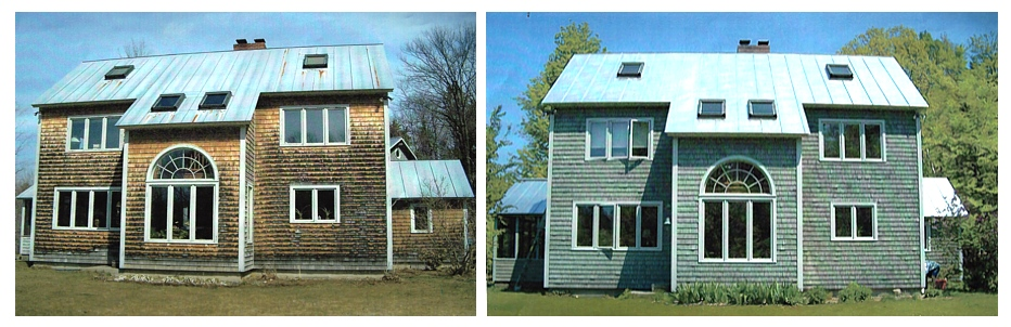 Before and after residential painting