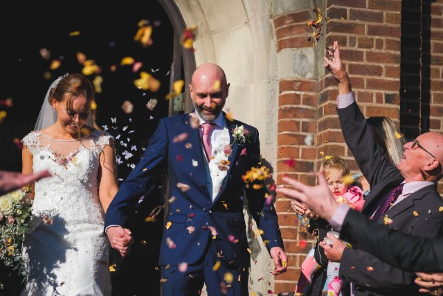 Confetti - wedding photographer in Wirral