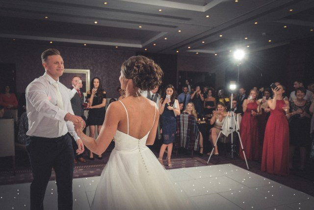 First dance photo in Chester Grosvenor Hotel