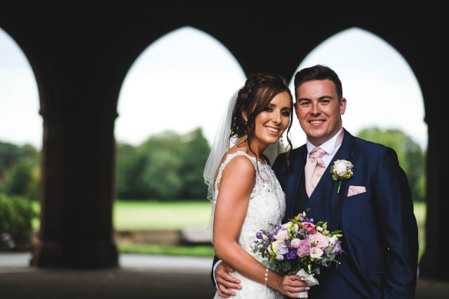 Bride and groom wedding photography in Liverpool