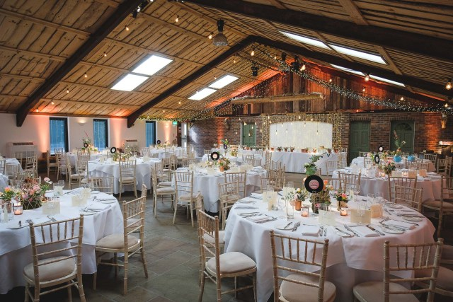 Wedding photographer Cheshire - Owen House Wedding Barn interior