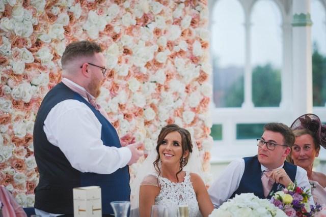 Wedding toasts in the Isla Gladstone