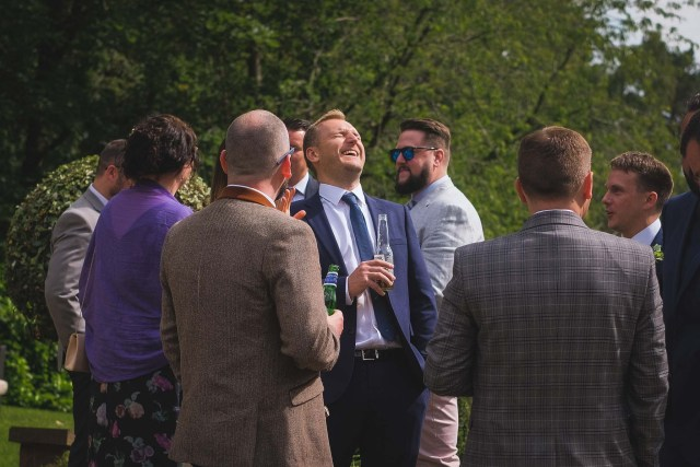 Wedding guests at Delamere Manor