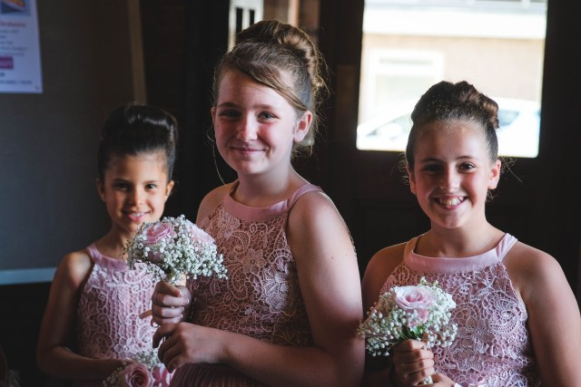 Flower girls at Soutport wedding